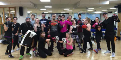 A large group of personal trainers